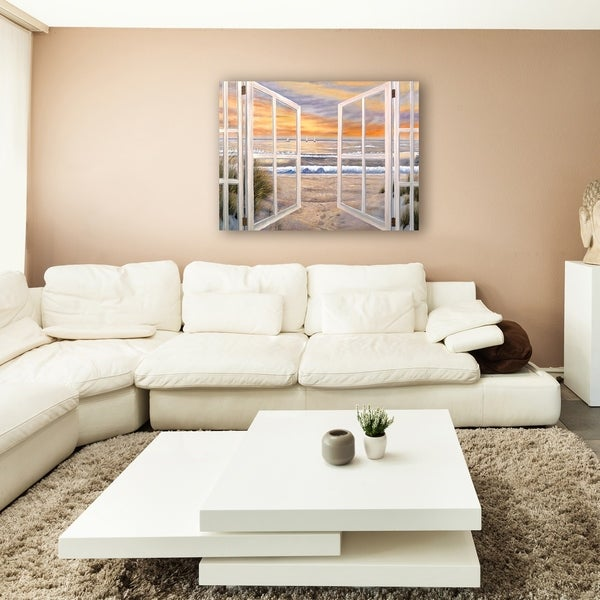 large windows for sale white bay ocean window scene extra large canvas art shop on sale free