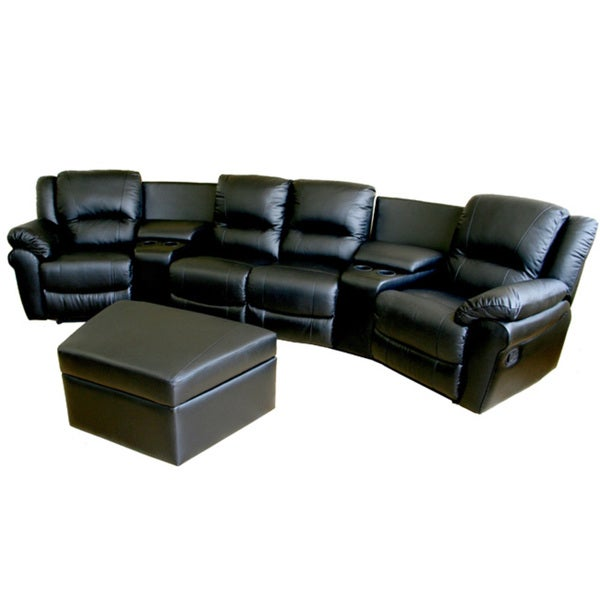 Beldon 7-piece Leather Recliner Home Theater Set - Free ...