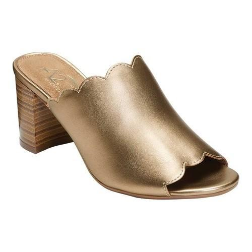 6b6e7660f10 Shop Women s A2 by Aerosoles Guideline Slide Sandal Gold Metallic Faux  Leather - On Sale - Free Shipping On Orders Over  45 - Overstock.com -  21691666