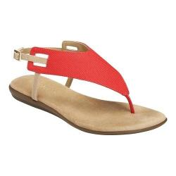 Women's Aerosoles Chlose Friend Thong Sandal Red Faux Leather