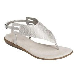 Women's Aerosoles Chlose Friend Thong Sandal Silver Faux Leather