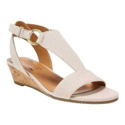Women's Aerosoles Creme Brulee Wedge Sandal Natural Fabric