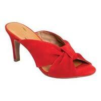 Women's Aerosoles Street Lamp Slide Sandal Mid Red Suede