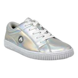 Men's Airwalk Pearl Skate Shoe Silver Iridescent Coated Leather