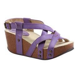 Women's Diba True Floor Me Wedges Purple Imi Leather