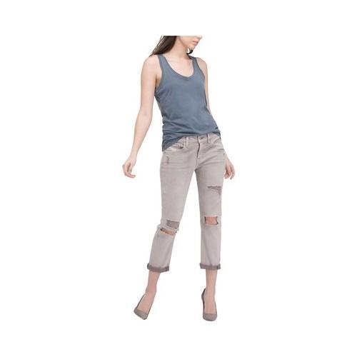 c78f26283e51 Shop Women s AG Ex-Boyfriend Slim Jean in 1 Year Busted White 01 Year  Busted White - Free Shipping Today - Overstock - 21726944