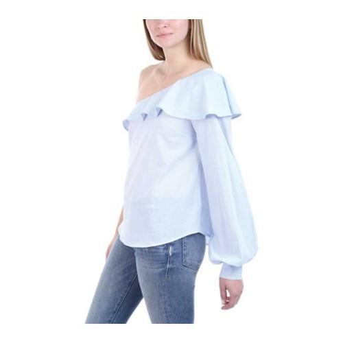 4e22bfd1ffe ... Thumbnail Women's A.L.C. Brielle Ruffled One-Shoulder Top Oxford  Blue