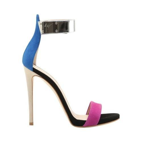 a76f040c1a79 Shop Women s Giuseppe Zanotti Alien Colorblock Metallic Ankle-Strap Sandal  Cam Party Leather Suede - Free Shipping Today - Overstock - 21727251