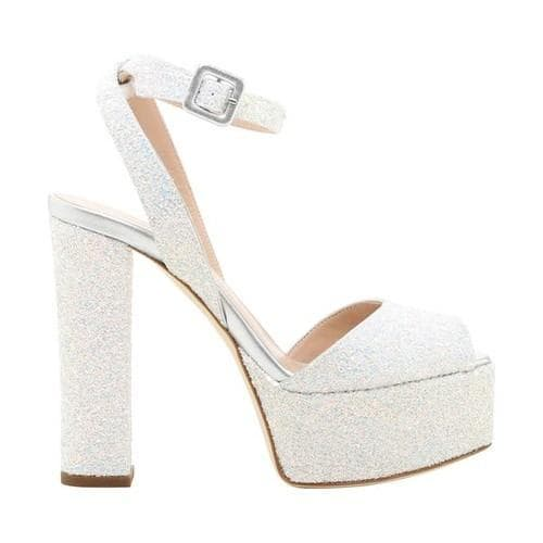 9cddce1f5926 Shop Women s Giuseppe Zanotti Glitter Block Heel Platform White Calf  Leather - Free Shipping Today - Overstock - 21727276