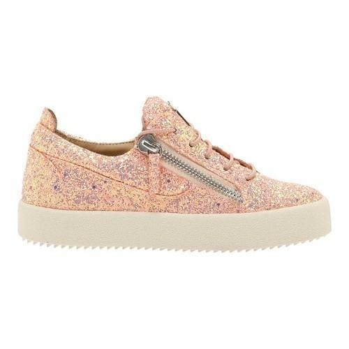 Shop Women s Giuseppe Zanotti Glitter Zip Sneakers Pink Barbie Calf Leather  - On Sale - Free Shipping Today - Overstock - 21727277 371e533cd