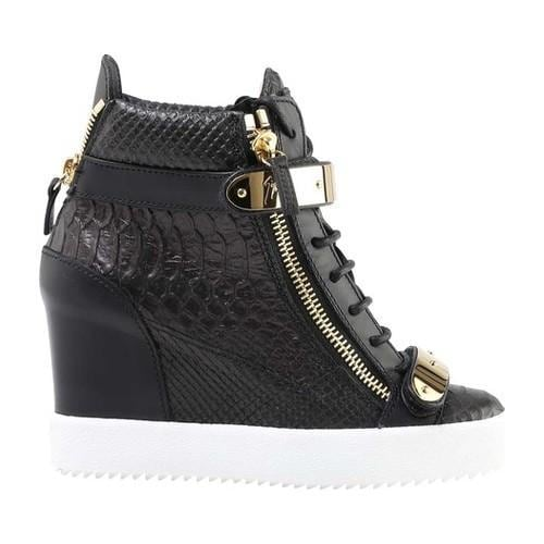 d315b60d6 Shop Women s Giuseppe Zanotti Jennifer Embossed Leather Double Zip Wedge  Sneaker Nero Embossed Calf Leather - Free Shipping Today - Overstock -  21727280