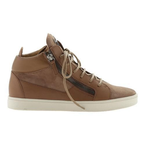320df536edac5 Shop Women's Giuseppe Zanotti Kriss Double Zip Mid-Top Sneaker Tan Calfskin  Leather - Free Shipping Today - Overstock - 21727284