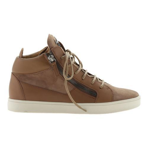 589d3a895e027 Shop Women's Giuseppe Zanotti Kriss Double Zip Mid-Top Sneaker Tan Calfskin  Leather - Free Shipping Today - Overstock - 21727284