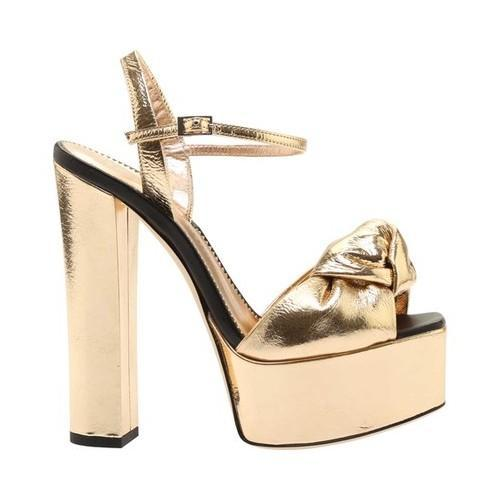 b892df756803 Shop Women s Giuseppe Zanotti Metallic Leather Block Heel Sandal Rose Gold  Calf Leather - Free Shipping Today - Overstock - 21727292