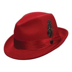 Men's Stacy Adams Wool Fedora (SAW566) Red