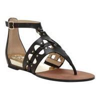 Women's Vince Camuto Arlanian Gladiator Sandal Black Casual Calf
