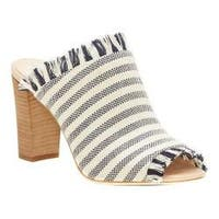 Women's Vince Camuto Chestalan Block Heel Slide Navy Stripe Knit