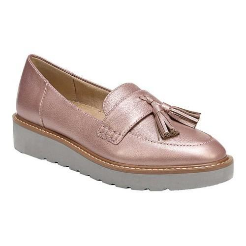 5fac32e3e95 Women  x27 s Naturalizer August Platform Tassel Loafer Rose Gold Metallic  Leather