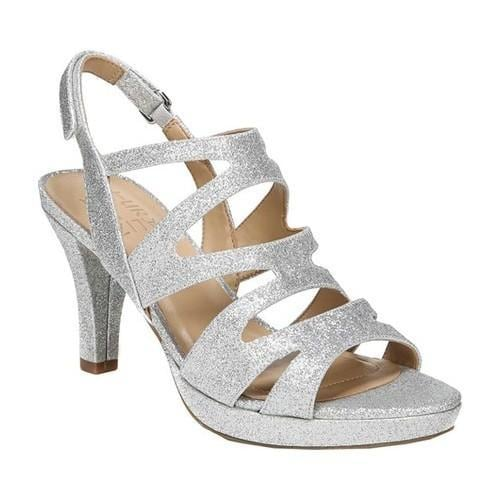 c2b633b237a Shop Women s Naturalizer Pressley Sandal Silver Glitter - On Sale - Free  Shipping Today - Overstock - 21691944