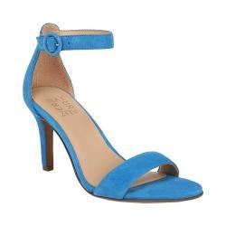 Women's Naturalizer Kinsley Ankle Strap Sandal Blue Suede