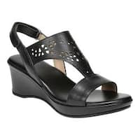Women's Naturalizer Veda Wedge Sandal Black Leather