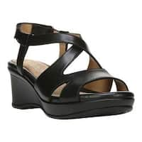 Women's Naturalizer Villette Quarter Strap Sandal Black Leather