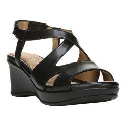 Women's Naturalizer Villette Quarter Strap Sandal Black Leather