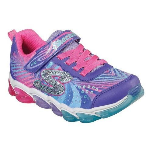 Shop Girls  Skechers S Lights Jelly Beams Sneaker Purple Multi - On Sale -  Free Shipping Today - Overstock - 21692025 7ac595a8b03f