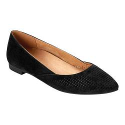 Women's Vionic with Orthaheel Technology Posey Ballet Flat Black Kid Suede