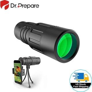 Monocular Telescope W/ Smartphone Adapter Bracket Tripod Waterproof for Outdoor
