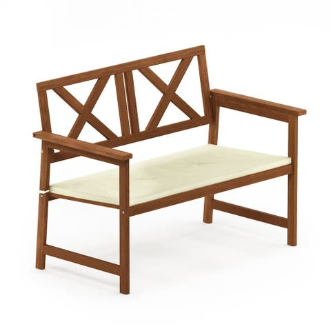 Furinno Tioman Hardwood 3-tier Corner Shelf in Teak Oil