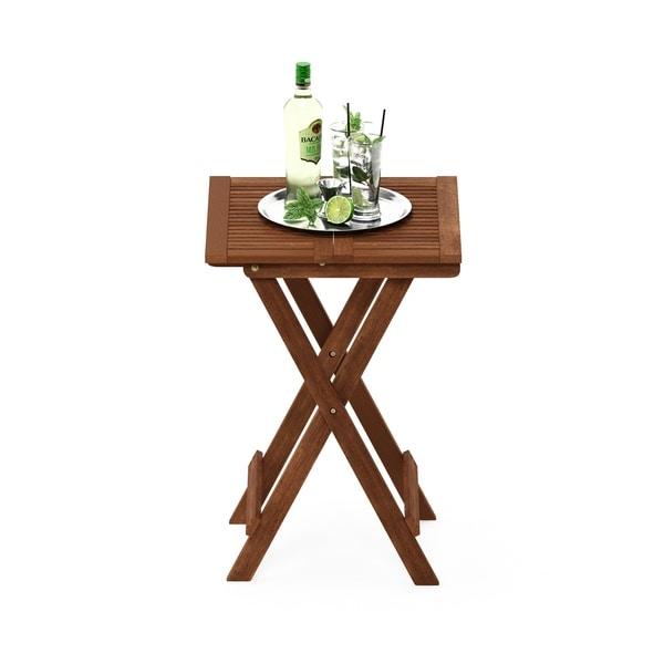 Havenside Home Ormond Hardwood Folding Table in Teak Oil