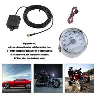 85mm GPS Speedometer 160MPH Digital Automobile Gauge Durable Car Odometers - WHITE