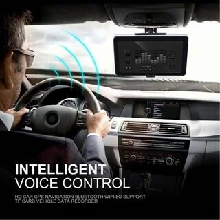 7 Inch TFT LCD Display Car Truck GPS Navigation+Wireless Rearview Camera - black