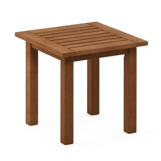 Furinno Tioman Hardwood End Table in Teak Oil