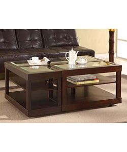 L Shaped Contemporary Accent Table
