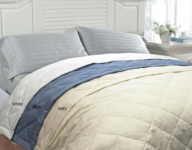 famous maker oversize twinsize white down blanket