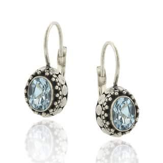 Glitzy Rocks Sterling Silver 2ct TGW Oval Blue Topaz Leverback Earrings https://ak1.ostkcdn.com/images/products/2552425/2552425/Glitzy-Rocks-Sterling-Silver-2ct-TGW-Oval-Blue-Topaz-Leverback-Earrings-P10763509.jpg?impolicy=medium