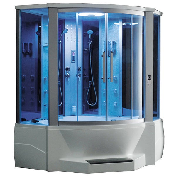 Shop 701 Steam Shower With Whirlpool Tub Free Shipping