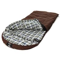 Grizzly +0 Degree Chocolate Canvas Flannel Sleeping Bag with Hyperloft Insulation