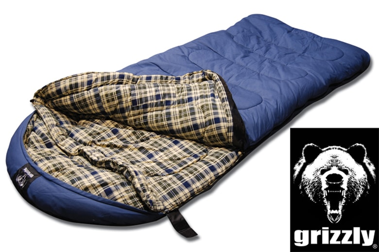 Grizzly Canvas Blue -25-degree Flannel-lined Hyperloft Sleeping Bag - Thumbnail 1