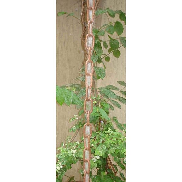 Monarch pure copper traditional link rainchain 8 5 foot for Home landscape design suite 8 0 link