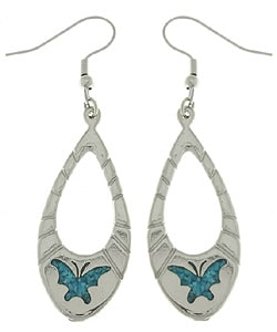 Carolina Glamour Collection Turquoise Butterfly Dangle Earrings