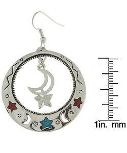 Carolina Glamour Collection Moon and Star Large Dangle Earrings - Thumbnail 2
