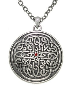 Carolina Glamour Collection Sunburst Celtic Knot Pewter Unisex Necklace