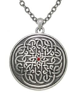 Carolina Glamour Collection Sunburst Celtic Knot Pewter Unisex Necklace