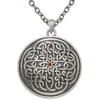 Sunburst Celtic Knot Pewter Unisex Necklace