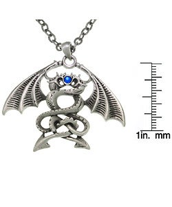 Carolina Glamour Collection Double Dragons Pewter Unisex Necklace