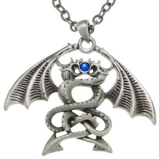 Double Dragons Pewter Unisex Necklace
