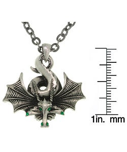 Carolina Glamour Collection Curled Dragon Pewter Unisex Necklace
